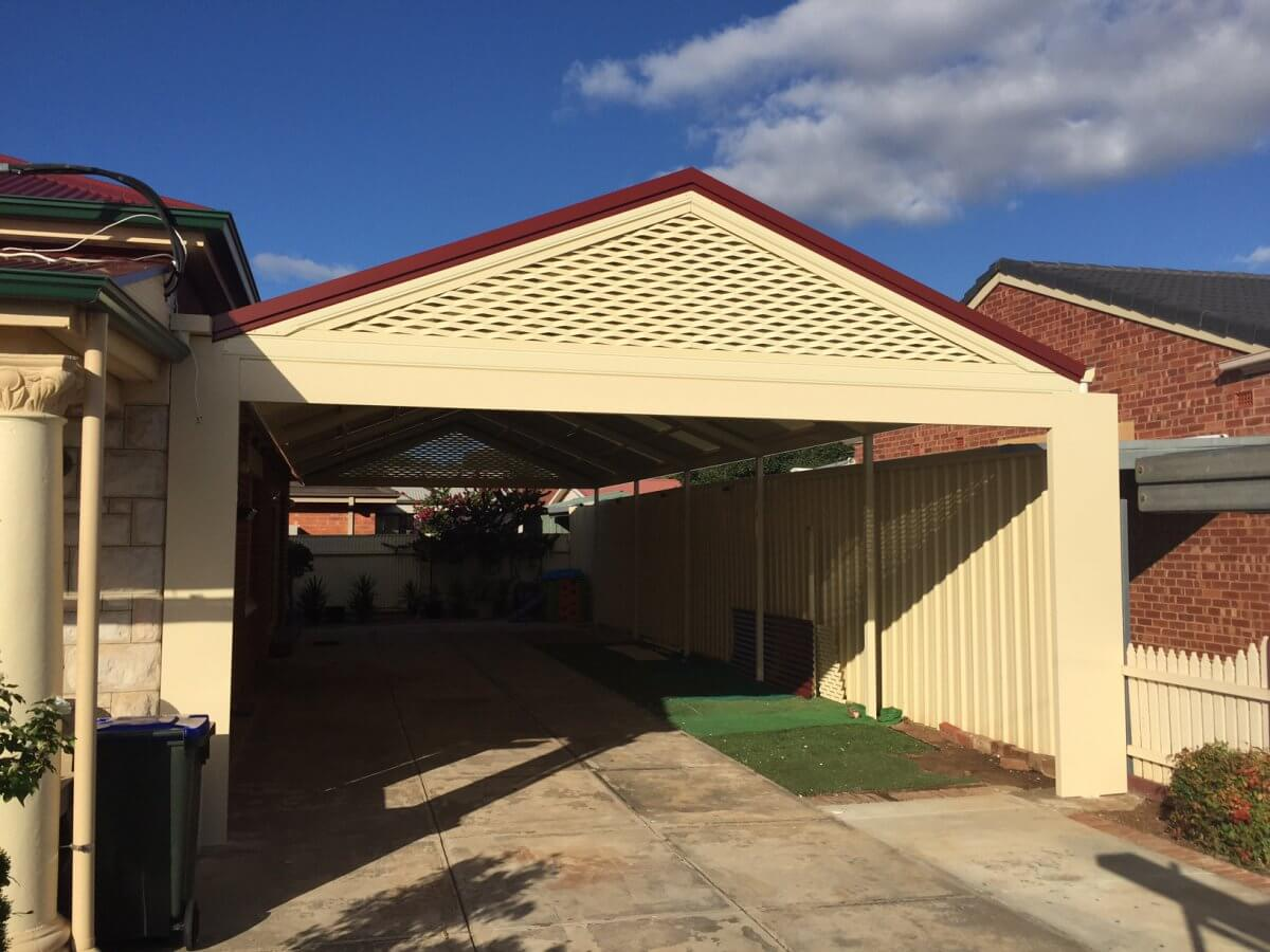 carport and stratco outback gable - oasis home improvements